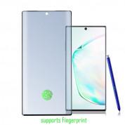 4smarts Second Glass UltraSonix with Colour Frame - калено стъклено защитно покритие с извити ръбове за Samsung Galaxy Note 10 Plus, Note 10 Plus 5G (черен-прозрачен)