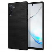 Spigen Liquid Air Case - тънък силиконов (TPU) калъф за Samsung Galaxy Note 10 (черен-мат)