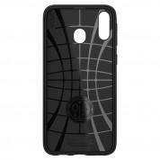 Spigen Rugged Armor Case - тънък качествен силиконов (TPU) калъф за Samsung Galaxy M20 (черен) 5