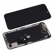 OEM iPhone X Display Unit OLED Hard - резервен дисплей за iPhone X (пълен комплект) - тъмносив