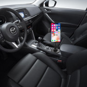 Macally Car Cup holder smartphone mount with wireless Qi charger  3