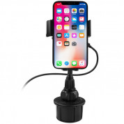Macally Car Cup holder smartphone mount with wireless Qi charger  2