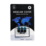 WebCam Cover for laptops, iPhone and mobile devices (3 pack) (black)