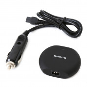 Omega Universal Car Automatic Notebook Charger 2in1 90W with 2.1 USB Port  (black) 2