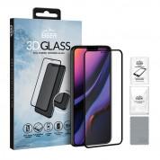 Eiger 3D Glass Full Screen Tempered Glass Screen Protector - калено стъклено защитно покритие с извити ръбове за целия дисплей на iPhone 11, iPhone XR (черен-прозрачен)