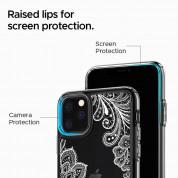 Spigen Ciel White Mandala Case - дизайнерски удароустойчив кейс за iPhone 11 Pro (прозрачен) 3