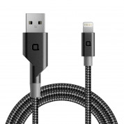 Nonda ZUS 180 Lightning Carbon Fiber Cable - Lightning кабел с оплетка от карбон за iPhone, iPad и устройства с Lightning порт (120 см)
