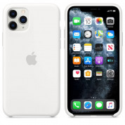 Apple Silicone Case for iPhone 11 Pro Max (white)