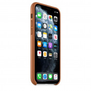 Apple iPhone Leather Case for iPhone 11 Pro Max (saddle brown) 5