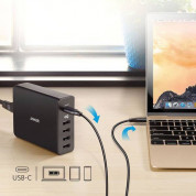 Anker PowerPort+ 5 Ports (60W) with USB-C PD Wall Charger (black) 4