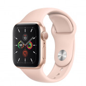 Apple Watch Series 5 GPS, 44mm Gold Aluminium Case with Pink Sand Sport Band 1