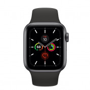 Apple Watch Series 5 GPS, 44mm Space Grey Aluminium Case with Black Sport Band- умен часовник от Apple
