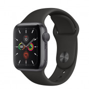 Apple Watch Series 5 GPS, 44mm Space Grey Aluminium Case with Black Sport Band- умен часовник от Apple 1