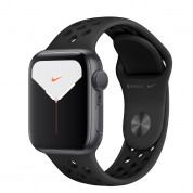 Apple Watch Nike Series 5 GPS, 44mm Space Gray Aluminium Case with Anthracite/Black Nike Sport Band - умен часовник от Apple  1