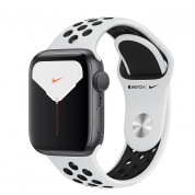 Apple Watch Nike Series 5 GPS, 44mm Silver Aluminium Case with Pure Platinum/Black Nike Sport Band - умен часовник от Apple  1