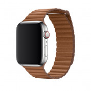 Apple Saddle Brown Leather Loop Large for Apple Watch 42mm, 44mm (saddle brown)  1