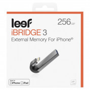 Leef iBRIDGE 3 Mobile Memory 256GB - външна памет за iPhone, iPad, iPod с Lightning (256GB) (черен)  5