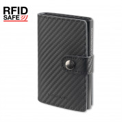 4smarts LAVAVIK Anti-RFID Wallet with Buckle (carbon)