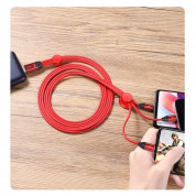 Baseus Car Co-Sharing 3-in1 USB Cable with micro USB, Lightning and USB-C connectors (100 cm) (red) 5