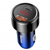 Baseus Dual USB & USB-C QC 4.0 Car Charger 45W (blue) 1