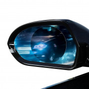 Baseus 0.15mm Rainproof Film for Car Rear-View Mirror (2 pcs, round, 95 x 95 mm) 2