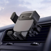 Baseus Cube Gravity Car Vent Mount - поставка за радиатора на кола за смартфони с дисплеи до 6.6 инча (черна) 2