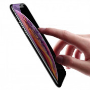 Baseus Anti-bluelight Tempered Glass Film (0.20mm) - калено стъклено защитно покритие за целия дисплей на iPhone 11, iPhone XR (прозрачен-черен)  5