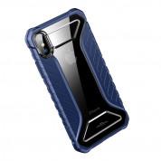 Baseus Michelin Case - удароустойчив хибриден кейс за iPhone XR (син) 2