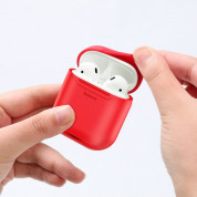 Baseus Airpods Silicone Wireless Charging Case (red) 4