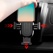 Baseus Wireless Charger Gravity Car Mount (silver) 7