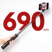 Baseus Fully Folding Bluetooth Tripod Selfie Stick (black-red) 6