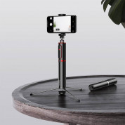 Baseus Fully Folding Bluetooth Tripod Selfie Stick (black-silver) 10