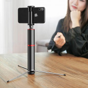 Baseus Fully Folding Bluetooth Tripod Selfie Stick (black-silver) 9