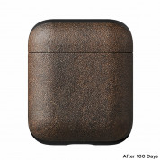 Nomad Leather Case for Apple Airpods (rustic brown) 2