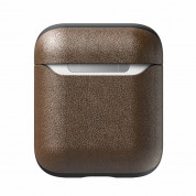 Nomad Leather Case for Apple Airpods (rustic brown) 3