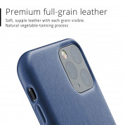 Mujjo Full Leather Case for iPhone 11 Pro (monaco blue) 2