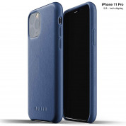 Mujjo Full Leather Case for iPhone 11 Pro (monaco blue)