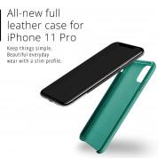 Mujjo Full Leather Case - кожен (естествена кожа) кейс за iPhone 11 Pro (зелен) 4