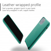 Mujjo Full Leather Case for iPhone 11 Pro (alpine green) 1