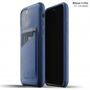 Mujjo Leather Wallet Case for iPhone 11 Pro (blue)