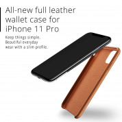 Mujjo Leather Wallet Case for iPhone 11 Pro (tan) 6