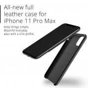 Mujjo Full Leather Case - кожен (естествена кожа) кейс за iPhone 11 Pro Max (черен) 1