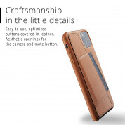 Mujjo Leather Wallet Case for iPhone 11 Pro Max (tan) 1