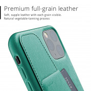 Mujjo Leather Wallet Case for iPhone 11 Pro Max (alpine green) 5