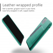 Mujjo Leather Wallet Case for iPhone 11 Pro Max (alpine green) 1