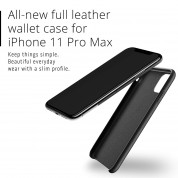 Mujjo Leather Wallet Case for iPhone 11 Pro Max (black) 3