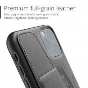 Mujjo Leather Wallet Case - кожен (естествена кожа) кейс с джоб за кредитна карта за iPhone 11 Pro Max (черен) 5