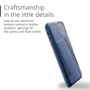 Mujjo Leather Wallet Case for iPhone 11 Pro Max (monaco blue) 2