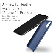 Mujjo Leather Wallet Case for iPhone 11 Pro Max (monaco blue) 6