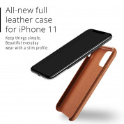 Mujjo Full Leather Case for iPhone 11 (brown) 5